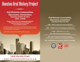 Oral history flyer