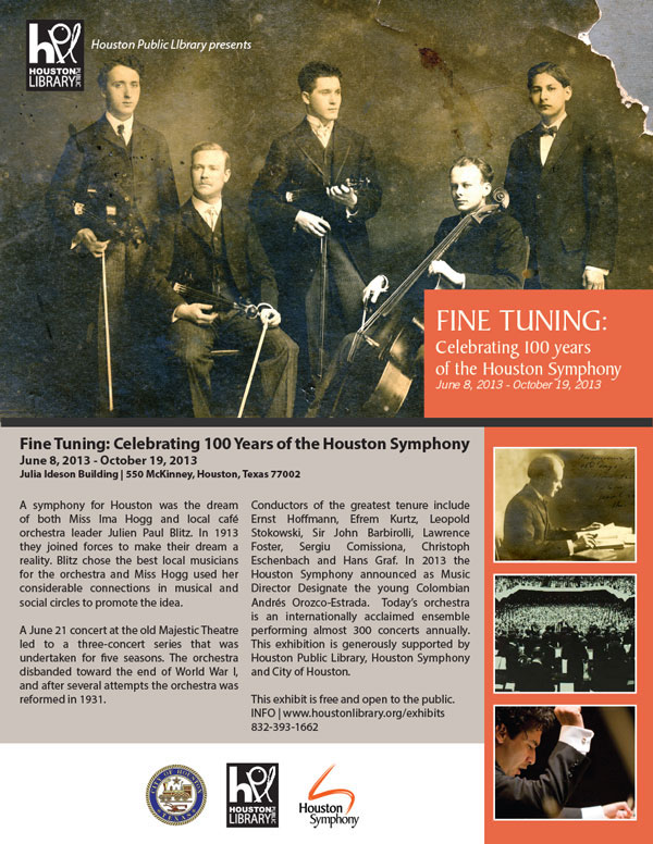 Fine Tuning: Celebrating 100 years of the Houston Symphony