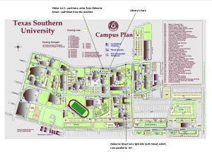 TSU campus  map