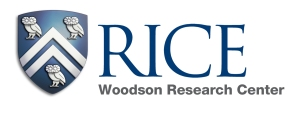 logo for Rice University Woodson Research Center. Event sponsor for the Houston Archives Bazaar 2017.