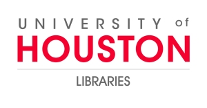 logo for University of Houston Libraries. Event sponsor for the Houston Archives Bazaar 2017.